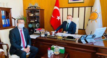 SAYIN BÜLENT TURAN'I MECLİS ODASINDA ZİYARET ETTİ